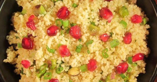 Couscous, Pistachios and Pomegranates on Pinterest