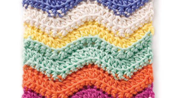 Chevron crochet project.