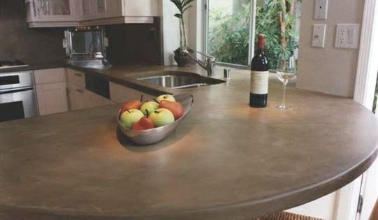 concrete...cool kitchen idea.