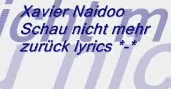 Youtube Naidoo Xavier Naidoo Deutsche Musik