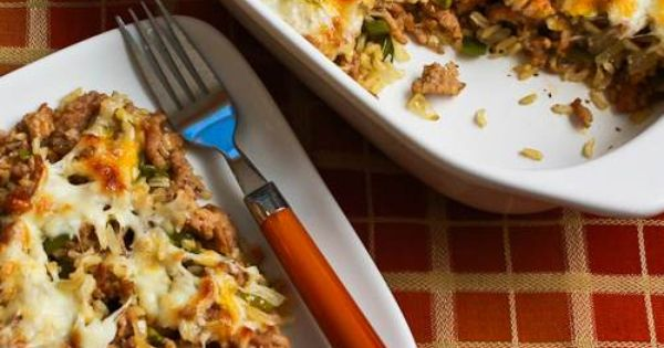 Easy Brown Rice Casserole with Turkey Italian Sausage and ...