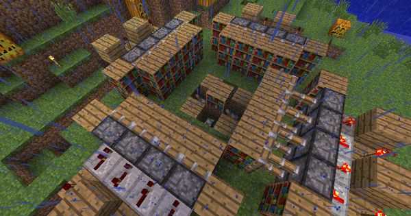 Minecraft enchanting best bookshelf layout possible - YouTube