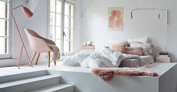 ... - Interiors and Exteriors  Pinterest - Roze slaapkamer, Roze
