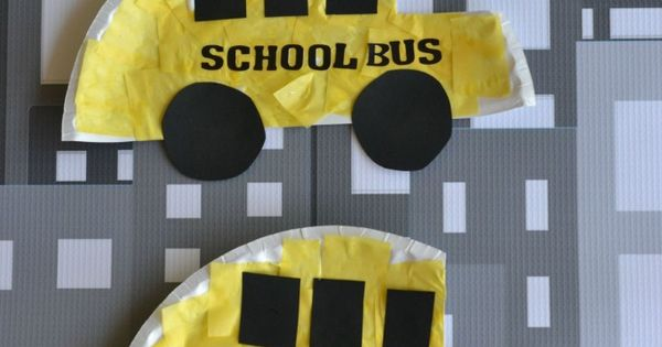 Paper Plate School Bus Kid Craft School Buses School