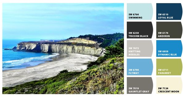 Vintage green kitchen cabinets - Northern California Coast Paint Colors From Chip It By
