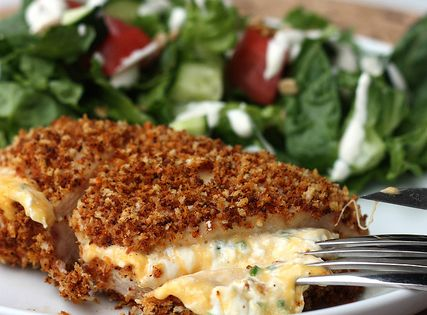 jalapeno popper chicken - Jalapeño Popper Chicken Serves 2. 1/2 cup panko,