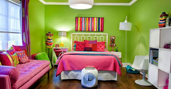 20 fun pink and green bedroom designs green bedroom for Pink and green bedroom designs