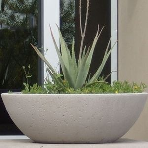 Concrete Wok Pot Planters Garden Bowls Large Garden Pots Potted Plants Outdoor Concrete Planters