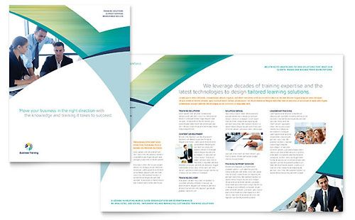Business Training Brochure Template Trifold Brochure Template