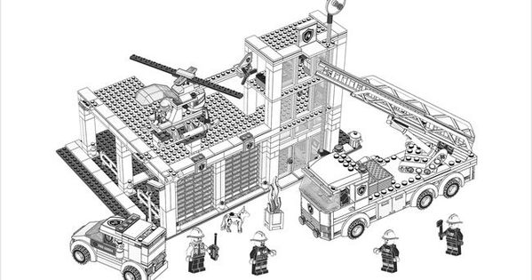 Lego Fire Station Coloring Pages Google Search Kids
