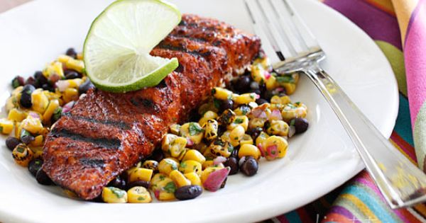 ... Grilled Salmon with Black Beans and Corn | Grilled Salmon, Black Beans