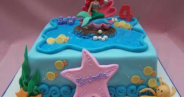 Little Mermaid Cake For Birthday Cakes Ideas