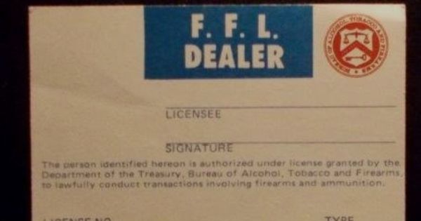 Novelty Ffl Id Card Ffl Cards Novelty