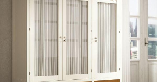 Armario 3 puertas con cortina armaris pinterest - Armarios con cortinas ...