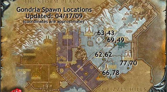 Gondria Map Wow Battle Beast Pets