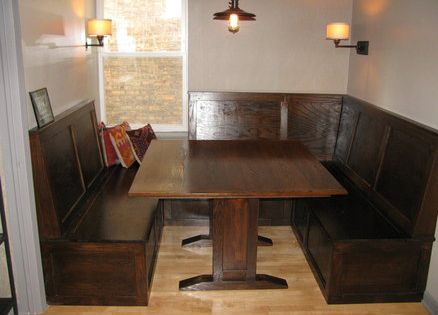 Irish Pub Style Booth And Table Feather Booths