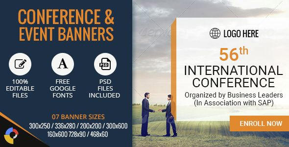 Business Banner Conference Ad Template Bu018 Banner Ads Corporate Banner Conference Banners