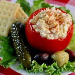Awesome Egg Salad With A Kick Allrecipes Com I Did 5 Eggs 2tbs Mayp 2 Tbsp Sour Cream Chives 1 4 Celery Paprika 1 Tb Recipes Egg Salad Recipe Egg Salad