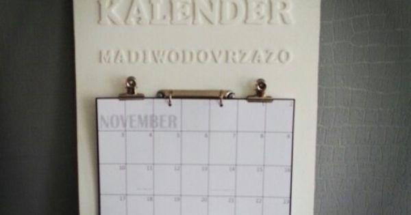 Kalender  om nog eens te maken  Pinterest