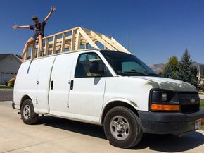 Building The Extended Roof For The Van Phase One Cargo Van Conversion Cargo Van Van Dwelling