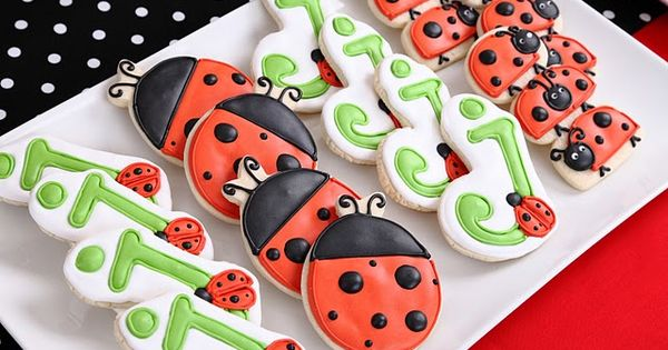 lady bug cookies for a ladybug party