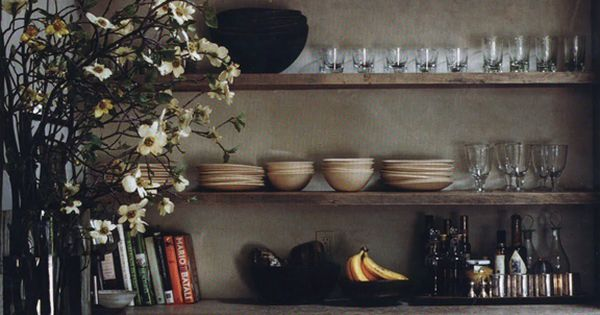 Wabi sabi rustic kitchen from 'Interiors/Atelier AM' + raw wood cabinets and