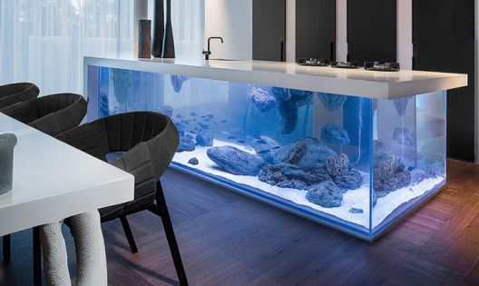 moderne aquarium kochinsel f r luxuri se k che freshouse wohnideen pinterest kochinsel. Black Bedroom Furniture Sets. Home Design Ideas