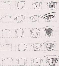 Dibujar Anime Paso A Paso Para Principiantes Buscar Con Google Como Dibujar Ojos Anime Como Dibujar Ojos Tutorial De Manga