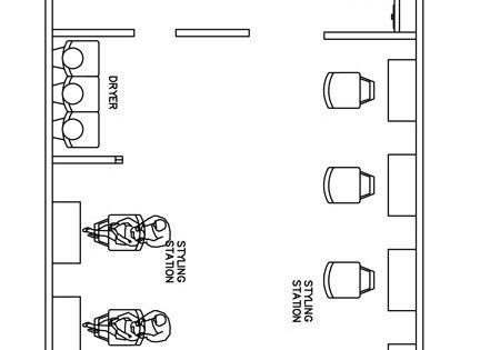 Beauty Salon Floor Plan Design Layout - 1400 Square Foot | The ...
