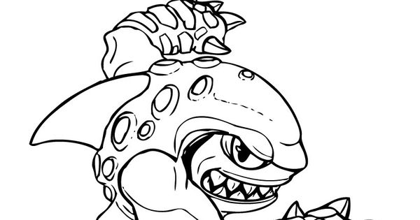Skylanders giants coloring pages drobot wow pow ~ Skylanders Coloring Page :: Terrafin | Ideas for the House ...