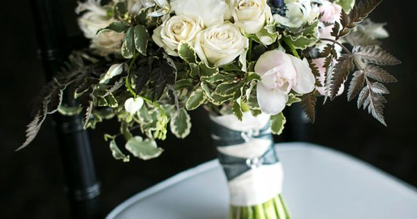 French Wedding Inspiration - bouquet by Vases Wild / Canlis Restaurant Seattle WA / Laura Marchbanks Wedding Photography / via StyleUnveiled.com