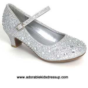 girls grey pumps