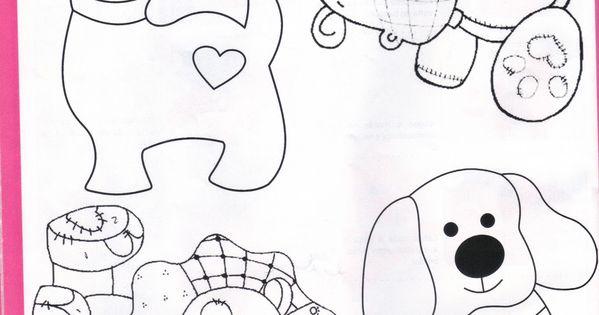 Creazioni con stoffa disegni per patchwork fai da te e - Schemi animali stampabili ...