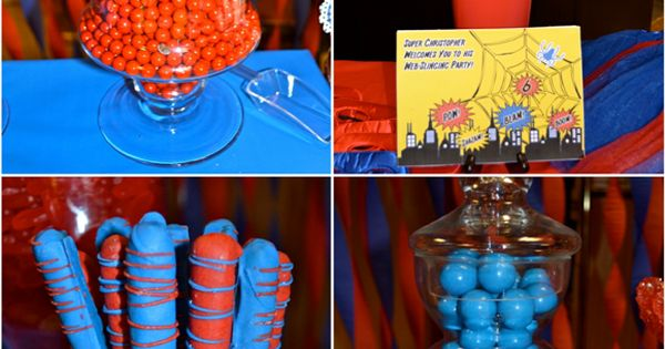 Dessert table ideas spiderman party