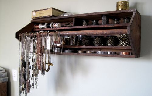 vintage tool box wall organizer for jewelry
