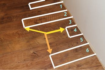 Flooring Planks Stagger Patterns With Measurements Didn T Have