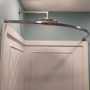 Neo Round Shower Rod 34 Round Shower Curtain Rod Shower Rod