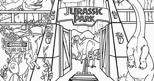 detailed printable high resolution free clipart jurassic park dinosaur coloring pages for older. Black Bedroom Furniture Sets. Home Design Ideas