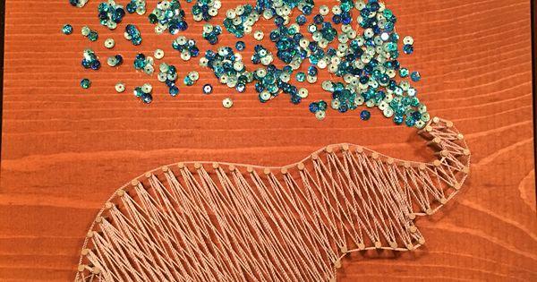 Elephant String Art | My Art | Pinterest | String art and ...