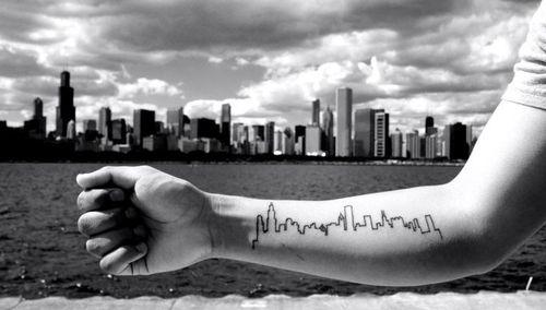 Diy cupcake holders skyline tattoo tattoo and piercings for Cleveland skyline tattoo