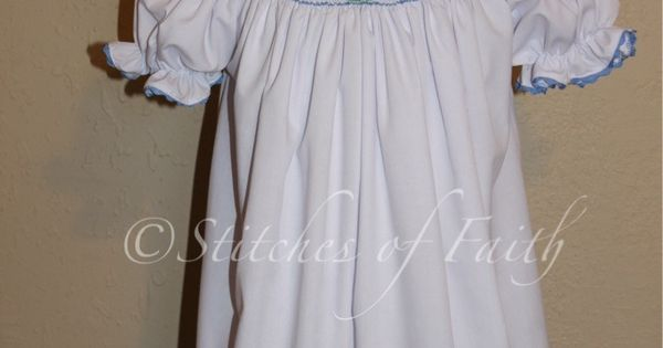 Peter Rabbit Smocked Bishop Stitches Of Faith Bunny In A