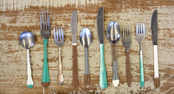 PAINTED FLATWARE | Hand Painted Antique Silverware