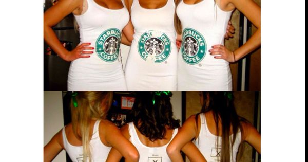 Halloween group costume idea | Starbucks costume