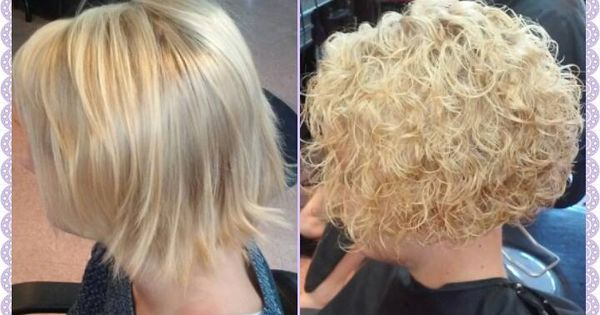 Spiral Perm With A Stacked Bob Cut Pinteres