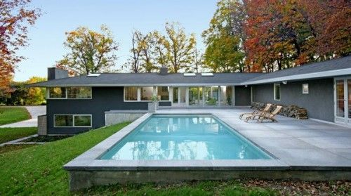 Modern Swimming Pool Simple Design Ideas Https Wp Me P8owwu 1qr Ranch Remodel Pool Patio Designs Ranch Style Homes