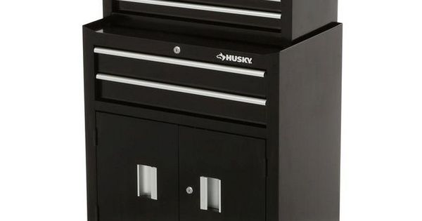 Husky 6-Drawer 26 In. Toolbox Chest Rolling Cabinet Mechanics Tool ...