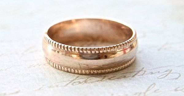 Solid 14K Gold Wedding Band Eco Friendly Simple By