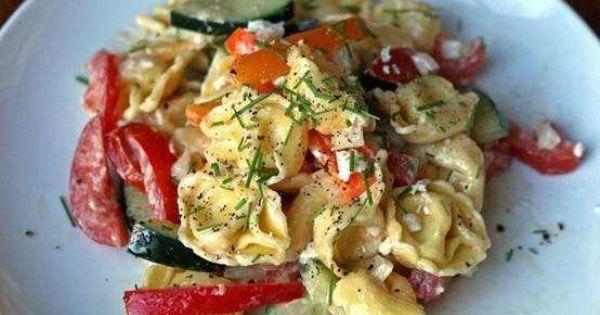 Tortellini pasta salads, Tortellini pasta and Tortellini on Pinterest