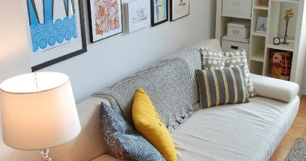 Pamela's Blank Canvas Goes Bold House Tour | Apartment Therapy picture wall