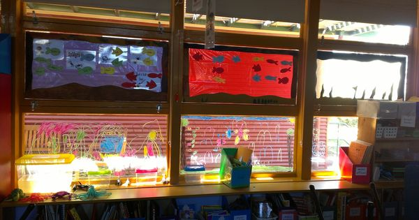 Make your own window aquariums for the classroom use for Make your own fish tank